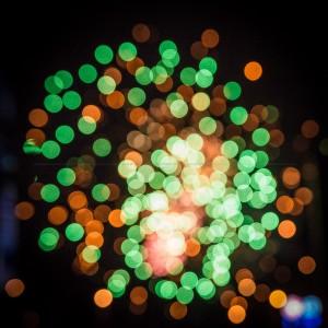 Bokeh firework